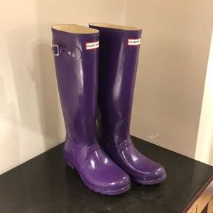 Purple Hunter boots size 8 - Original tall boot